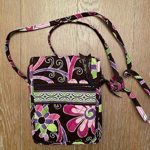 Vera Bradley Brown and Pink Floral Crossbody